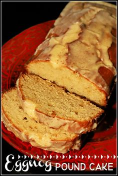 This dense and flavorful cake is made with creamy eggnog in the batter and on the sweet glaze. It is delicious served at holiday brunches or as a Christmas dessert. #ChristmasSweetsWeek