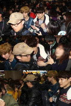 121201 Chen and Luhan @ Airport