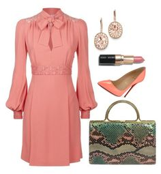 """Elie Saab Dress"" by arta13 on Polyvore featuring Elie Saab, Christian Louboutin, Judith Leiber, Kevin Jewelers and Bobbi Brown Cosmetics"