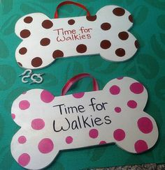 Time for Walkies, wooden plaque