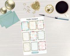 Pinning so I don't forget!! Remember to go back and check out Crafted By Corley on Etsy. Bright Bouquet Full Box Stickers - Erin Condren Vertical and Horizontal Life Planner Stickers Happy Planner Stickers Full Boxes by CraftedByCorley