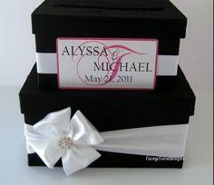 Custom card box - love but with a regular bow