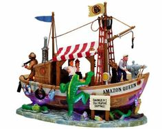 """Lemax Spooky Town Village Collection """"Sea Creature Hunt"""" Table Piece"""