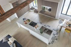 Wood flooring in open plan spaces can help to streamline the interior design process and bring the look together. Timber Flooring, Parquet Flooring, Kitchen Flooring, Hardwood Floors, Interior Design Process, French Oak, Home Goods, Interior Decorating, House Design