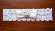 Garter Wedding Garter Lace Garter Ivory by BloomsandBlessings, $12.00