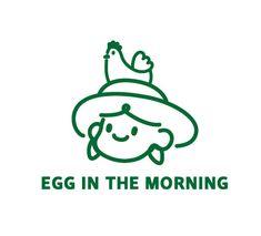 egg in the morning - 브랜딩/편집, 일러스트레이션 Stationary Branding, Kids Branding, Logo Branding, P Logo Design, Branding Design, Brand Identity Design, Egg Logo, H Logos, Hand Drawn Logo