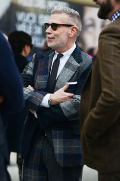 Nick Wooster with Plaid Suit | SOLETOPIA