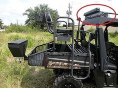Aluminum Roof Basket w/ Shooting Pad - BigCountryOutdoors Utv Accessories, Golf Cart Accessories, Hunting Toys, Hunting Cabin, Utv Trailers, Honda Pioneer 500, Roof Basket, Polaris Ranger 900, Kawasaki Mule