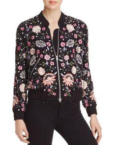 AQUA x Maddie & Tae Embellished Bomber Jacket - 100% Exclusive | Bloomingdale's