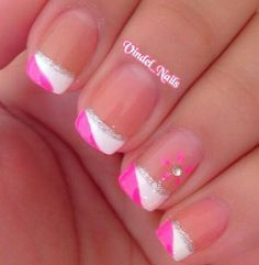 All girls like beautiful nails. The first thing we notice is nails. Therefore, we need to take good care of the reasons for nails. We always remember the person with the incredible nails. Instead, we don't care about the worst nails. French Tip Nail Designs, French Nail Art, French Tip Nails, Summer French Nails, Gel French Tips, Colored French Tips, Colored Nail Tips, Pink French Manicure, French Pedicure