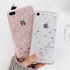 Cute Heart Glitter Phone Case For iPhone 6 6s Plus 7 7 Plus Soft Silicone Cover Colorful Star Covers For iPhone 6s Case Fundas