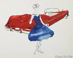 Andy Warhol - Female Fashion Figure, c. 1959