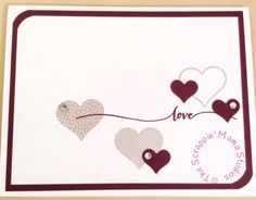 A Valentine's card using Stampin Up Hello Life stamp set