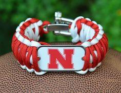 Wide Survival Bracelet - Officially Licensed - Nebraska® Huskers®