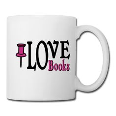 I LOVE BOOKS MUG - MAGENTA