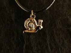Anhänger 24 Karat Vergoldet Schnecke Necklace Kette Geschenk Tier Gary Slug