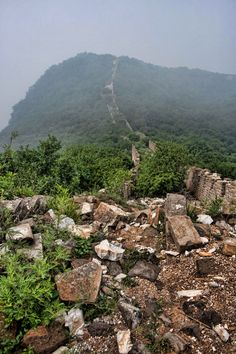 Wild part of the Great Wall