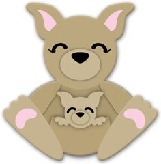 kangaroo cuddly animal - free svg file