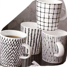 doodle mugs - great idea for all of my white mugs