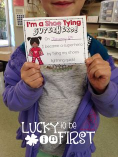 I'm a Shoe Typing Superhero {FREEBIE} Reward your students for learning to tie their shoe!