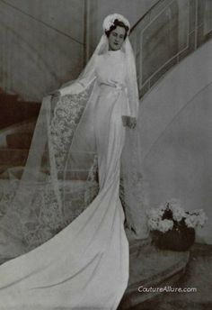 Wedding gown by Paquin, 1938.