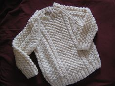 Childs Aran Sweater by SueMitchellHandKnits on Etsy, £25.00