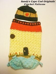 Lighthouse Newborn Cocoon and Beanie Crochet by SandysCapeCodOrig