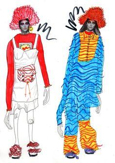 Elyse Blackshaw (@ElyseBlackshaw) | Twitter Fashion Illustration Collage, Fashion Collage, Fashion Art, Fashion Design Drawings, Fashion Sketches, Silhouette Mode, Fashion Portfolio Layout, Aesthetic Shirts, Magazine Mode