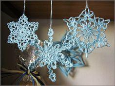 Relasé: Fiocchi di neve all'uncinetto - decorazioni natali...