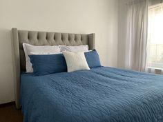 Turquoise Blue Quilt Set 100 Cotton Duvet Covers, Blue Quilts, Quilt Sets, Pillow Cases, Turquoise, Pillows, Big, Furniture, Home Decor