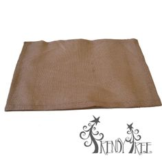 Natural Burlap Placemat - value priced! Only $1.25  Table runner and square table topper to match at http://www.trendytree.com