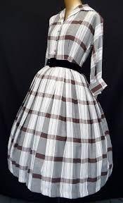 vintage plaid dress; nice collar
