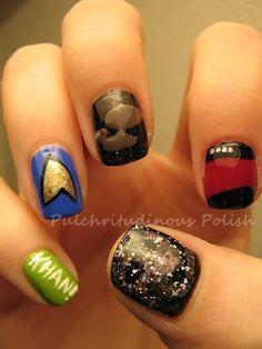 Star Trek Nails!.......hehehe im a trekie!