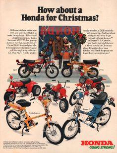 1978 Honda motorcycle print ad Play bikes for children by Vividiom, $9.00