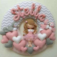 Felt Name Wreath