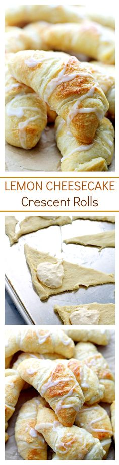 Lemon Cheesecake Crescent Rolls | www.diethood.com | Super easy and incredibly soft Crescent Rolls filled with a sweet and delicious lemon and cream cheese mixture. | #cheesecake #crescentrolls