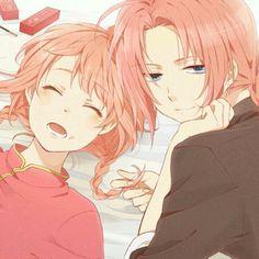 [Harem Gintama ] Kagura Yato - Kagura x Kamui Anime Siblings, Anime Couples, Anime Guys, Manga Anime, Anime Chibi, Gintama, Comedy Anime, Natsume Yuujinchou, Okikagu