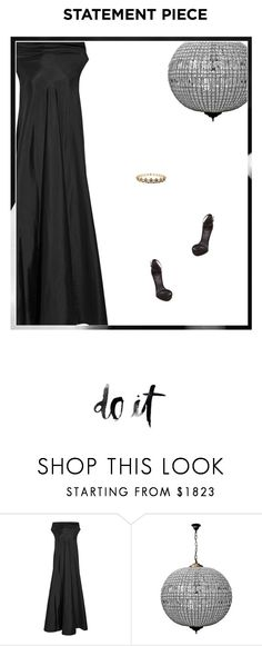 """Untitled #2918"" by amberelb ❤ liked on Polyvore featuring The Row, Child Of Wild, Heels, maxidress, TheRow, headpiece and Schutz"