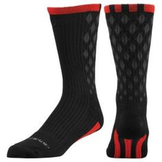 adidas D Rose Crew Sock - Men's - Basketball - Accessories - Black/Light Scarlet