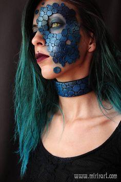 dragon leather / scales mask mermaid costume fantasy