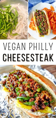 Easy Vegan Philly Cheesesteak Recipe I how to make a vegan philly cheesesteak recipe I tips for making vegan philly cheesesteak I best vegan sandwiches I delicious vegan snacks I meat free philly cheesesteak I dairy free philly cheesesteak I healthy philly cheesesteak I vegan homemade philly cheesesteak #veganrecipes #vegansandwiches Potluck Dishes, Potluck Recipes, Quick Dinner Recipes, Tasty Dishes, Cooking Recipes, Healthy Appetizers, Healthy Breakfast Recipes, Easy Healthy Recipes, Free Recipes