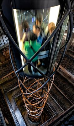 elevator in the old town hall astronomical clock tower... Prague, Czech Republic