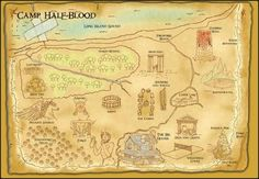 Percy Jackson & the Olympians/The Heroes of Olympus - Camp Half-Blood Map