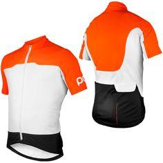 Zinc Orange/Hydrogen White/Nickel Blue POC Essential Short Sleeve Jersey SS14