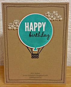 One-Layer Card, SSINKspiration, Kim Ryden, Stampin' Up!, Celebrate Today, Occasions Catalog, Sneak Peek