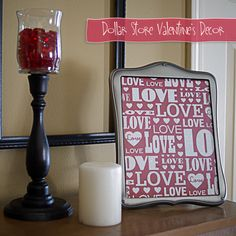 DOLLAR TREE HOME DECOR IDEAS | Top Twelve Valentine's Projects {party features} - Fox Hollow Cottage | #ValentinesDay #VDay #HomeDecor #Decor #Love