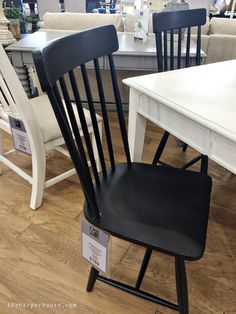 Magnolia Home Furniture Spindle Back Side Chair  - find my real life review of Joanna's new furniture line on the blog! #fixerupper #magnoliahome…