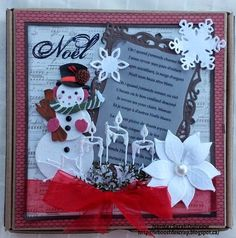 Les Boitatou Scrap, Christmas Ornaments, Holiday Decor, Frame, White Christmas, Snowman, Cards, Noel, Picture Frame