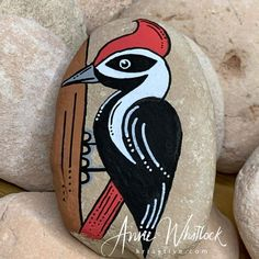 Rock Painting Patterns, Rock Painting Ideas Easy, Rock Painting Designs, Painted Pavers, Painted Rocks, Rock Queen, Deco Originale, Cool Rocks, Bird Silhouette