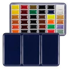 E-Z Lift SoHo Artist Watercolors Whole Pan Set of 36 - Jerry's Artarama Watercolor Pans, Watercolor Paint Set, Sketch Painting, Watercolor Sketch, Ceramics Pottery Mugs, Pan Set, Amazon Art, Sewing Stores, Art Supplies